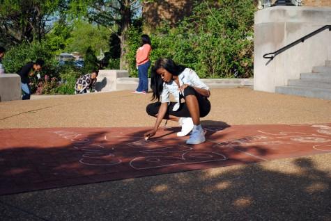 Yearbook Sidewalk Chalk