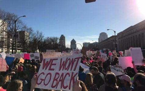 Students attend woman's march