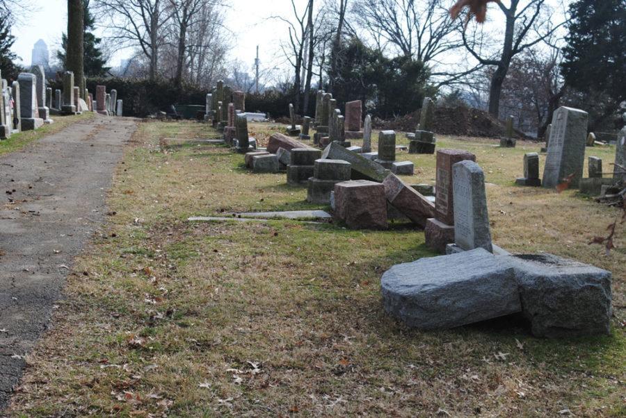 Vandals damage Jewish cemetery