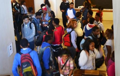 Students struggle through halls