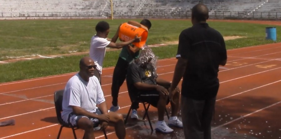 Administrative team takes the plunge: ALS ice bucket challenge