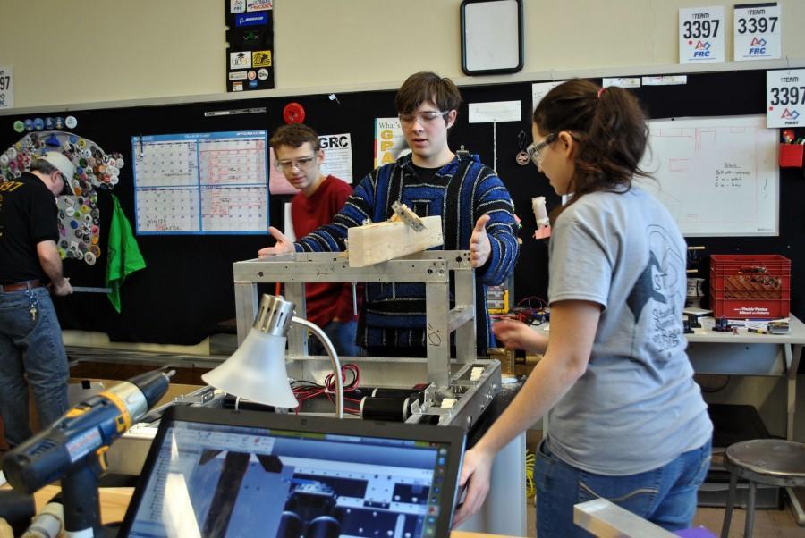 Robotics team balances school and build season