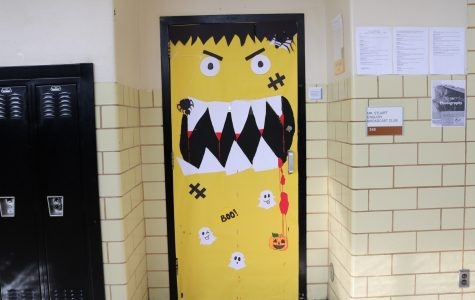 Mr. Stuart, Room 348: scary yellow pumpkin
