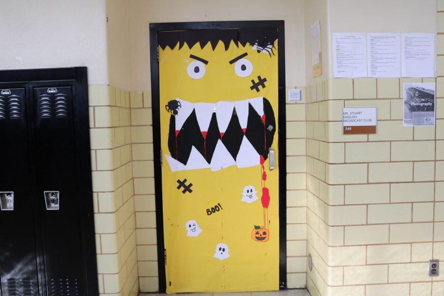 Mr. Stuart, Room 348: scary yellow pumpkin