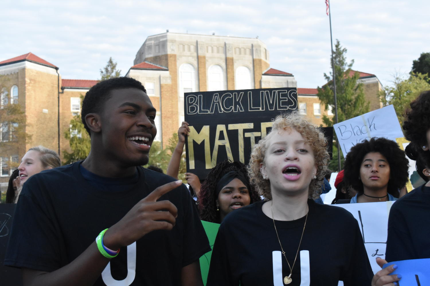 Students stage Stockley protest