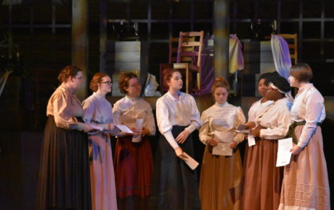 Students incorporate history into fall play, 'Triangle'