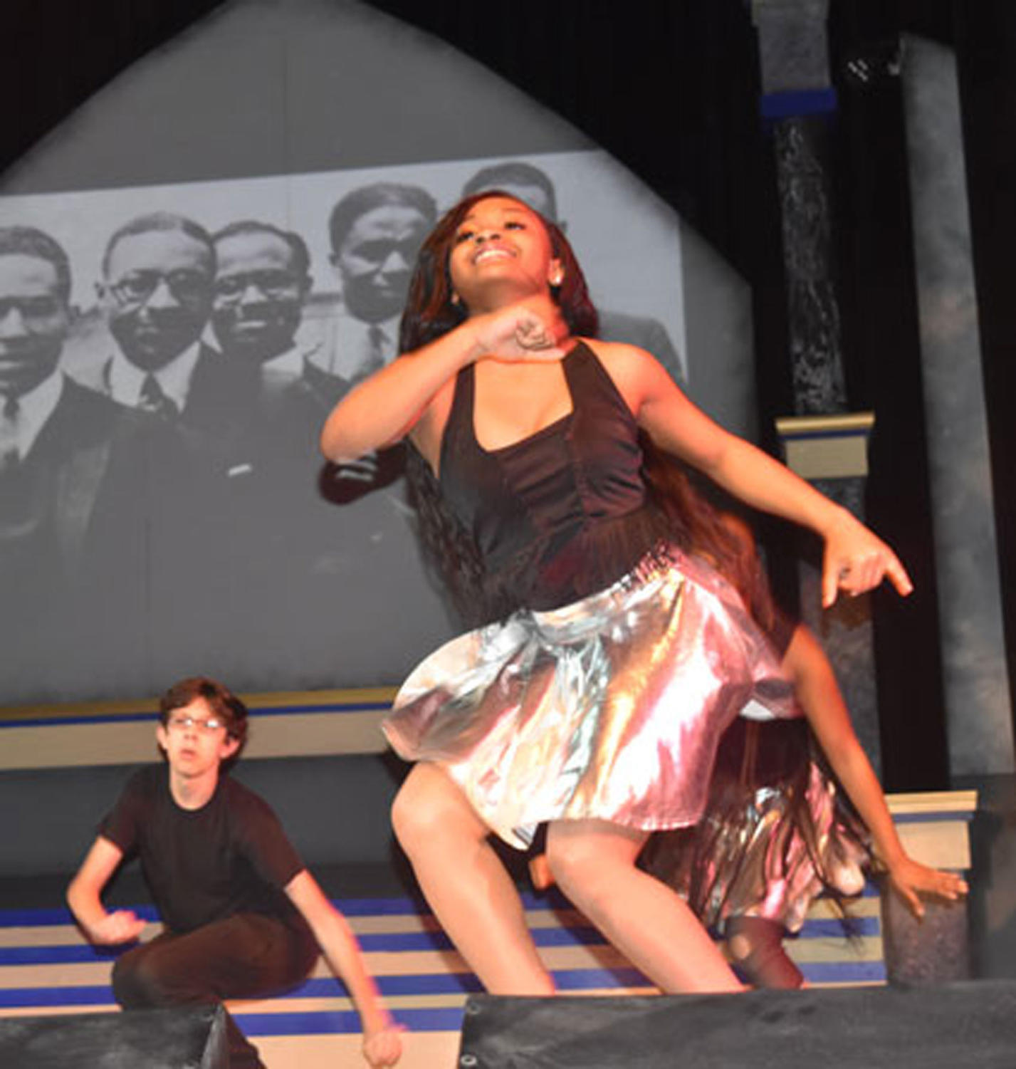 Students dance to the beat at this years black history month assembly