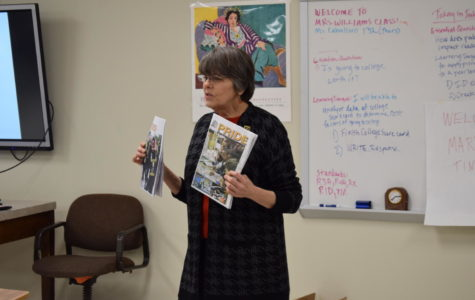 Mary Beth Tinker visits her alma mater and speaks with students