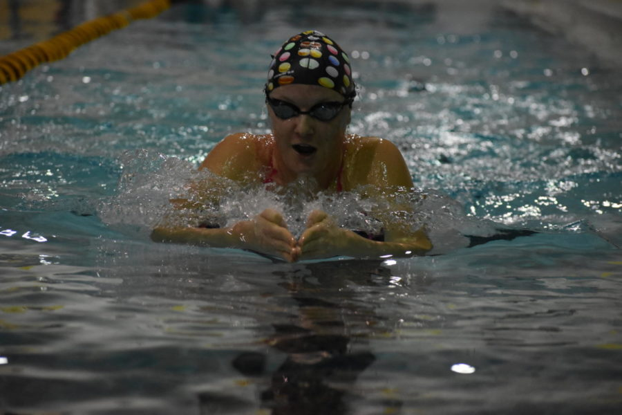 Grilc swims her way to  potential state qualification