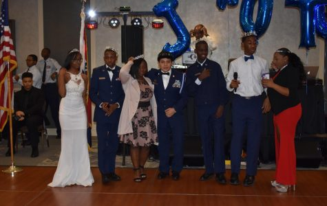JROTC Royal Court gathers together for a group photo