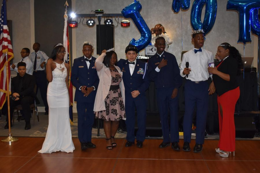 JROTC+Royal+Court+gathers+together+for+a+group+photo