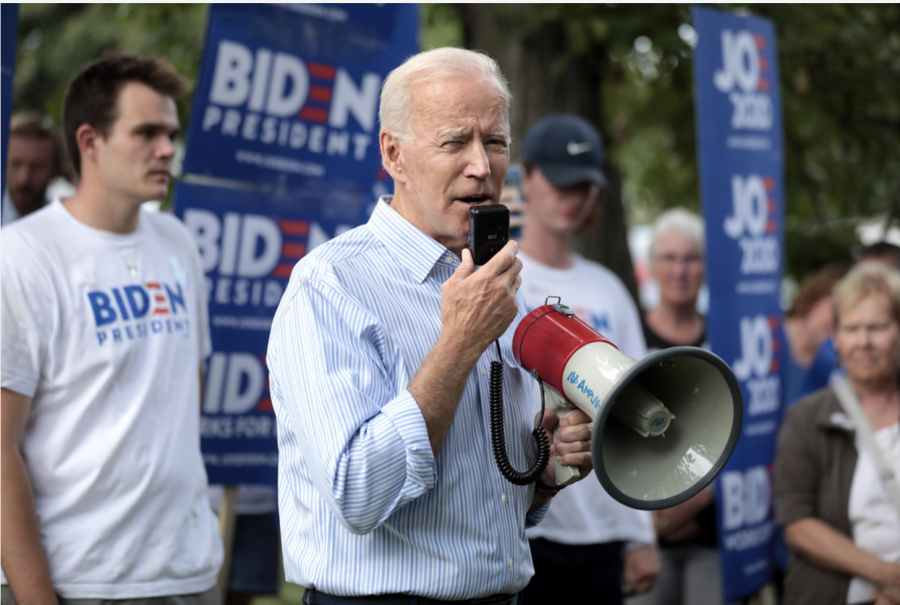 Joe Biden on the campaign trail in 2020